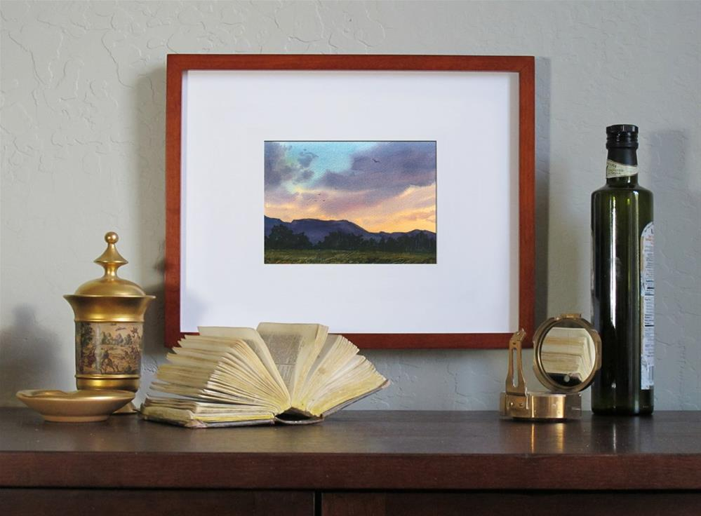 """""""Dusk upon the land"""" original fine art by Linda Henry"""