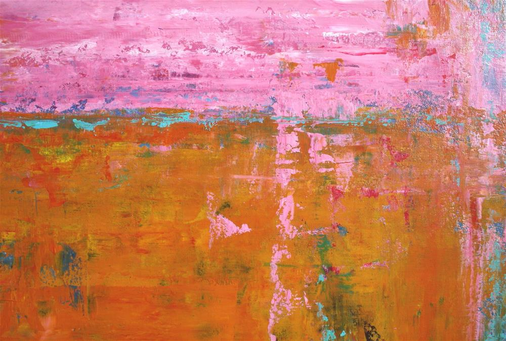 """Abstract in Pink and Orange VII"" original fine art by Sage Mountain"
