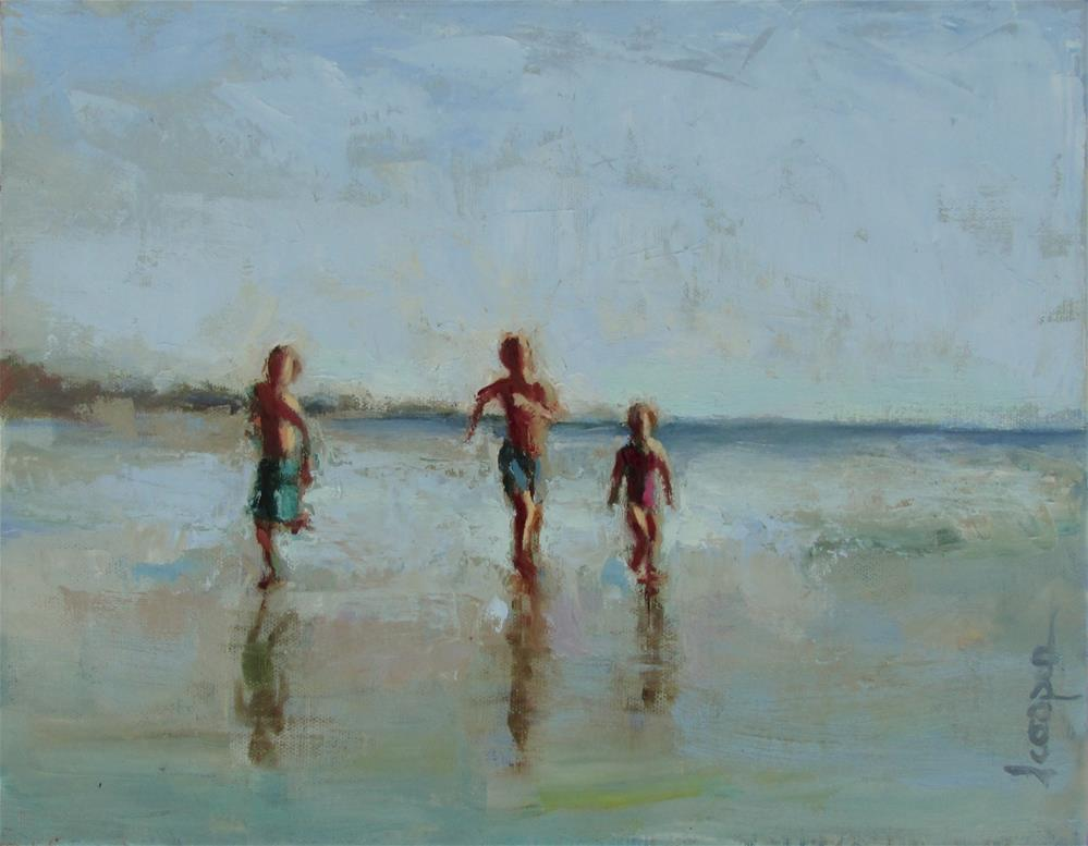 """Kid Of Summer"" original fine art by Dana Cooper"