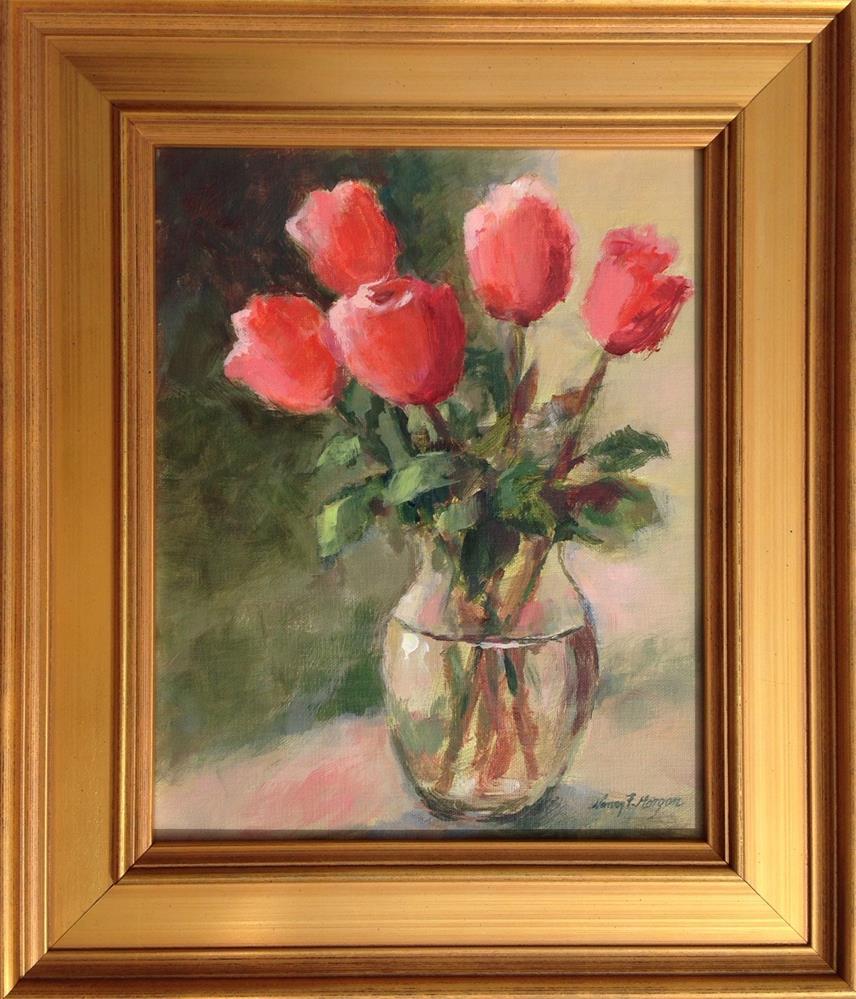 """Rainy Day Roses"" original fine art by Nancy F. Morgan"