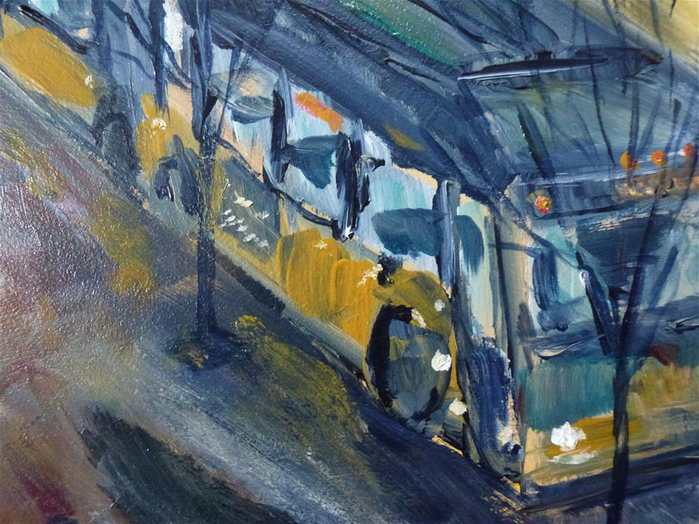 """Seattle Bus"" original fine art by Judith Elder"