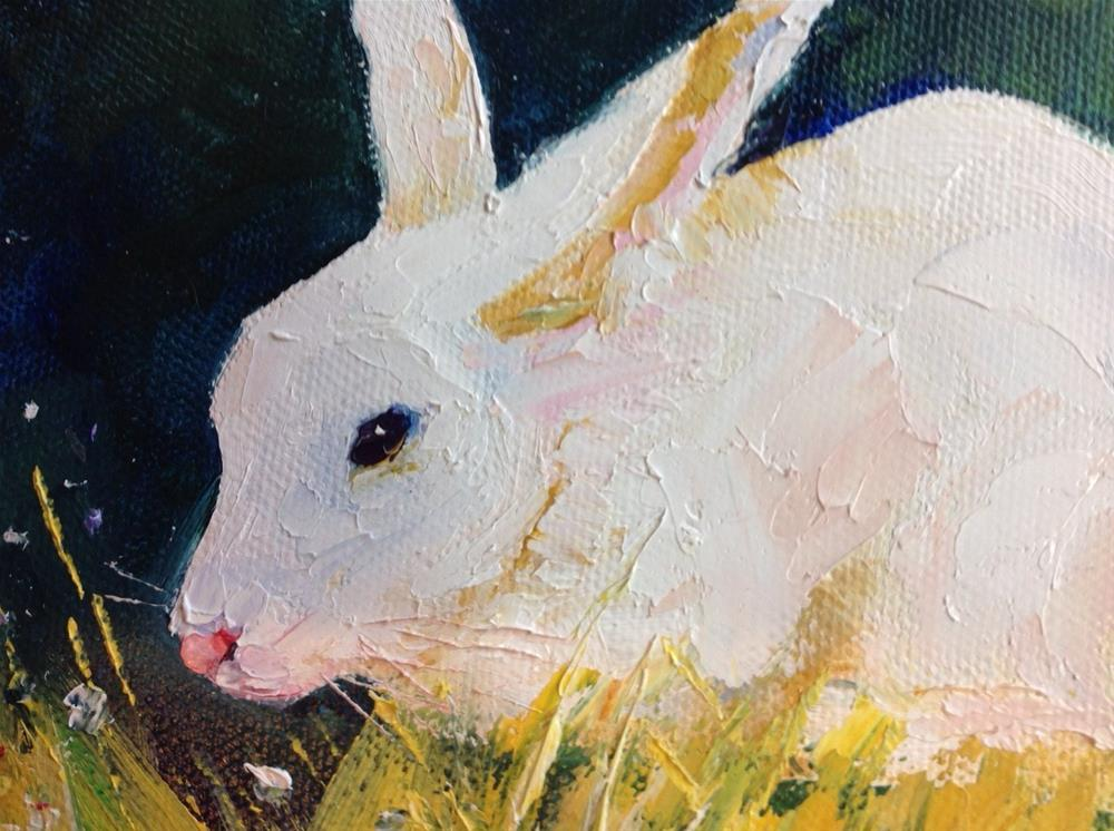 """The Whte Rabbit"" original fine art by Rose Brenner"