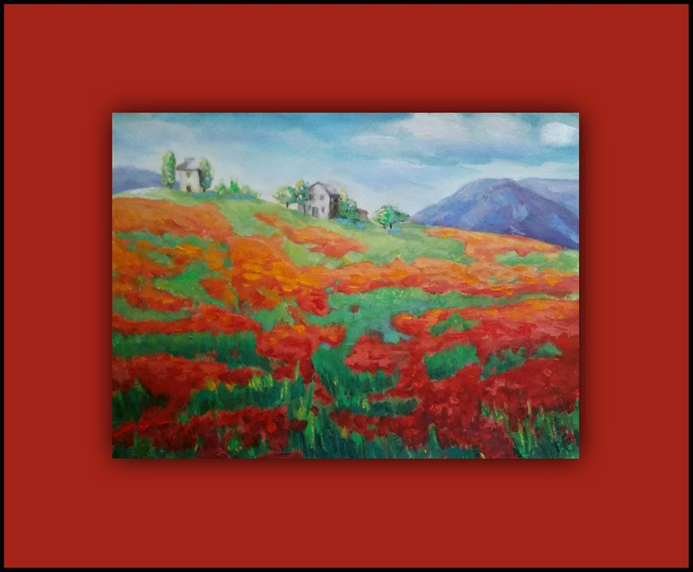 """""""My Poppy Field"""" original fine art by Dana C"""