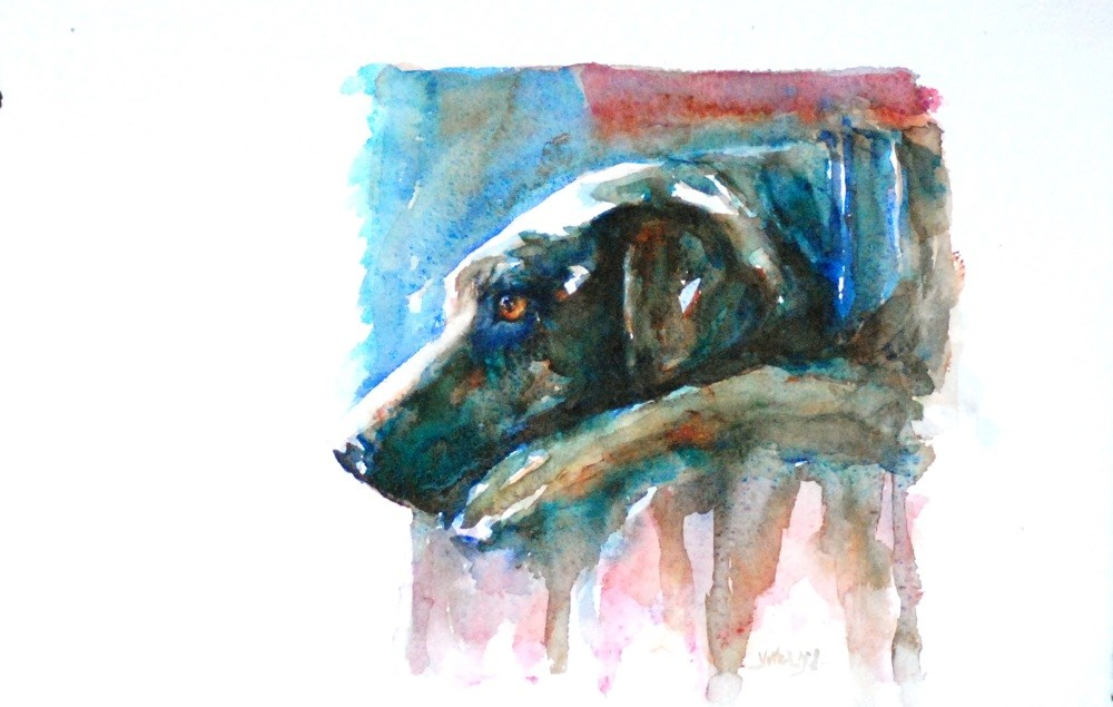 """""""waiting for them to come home"""" original fine art by Vicki Wood"""