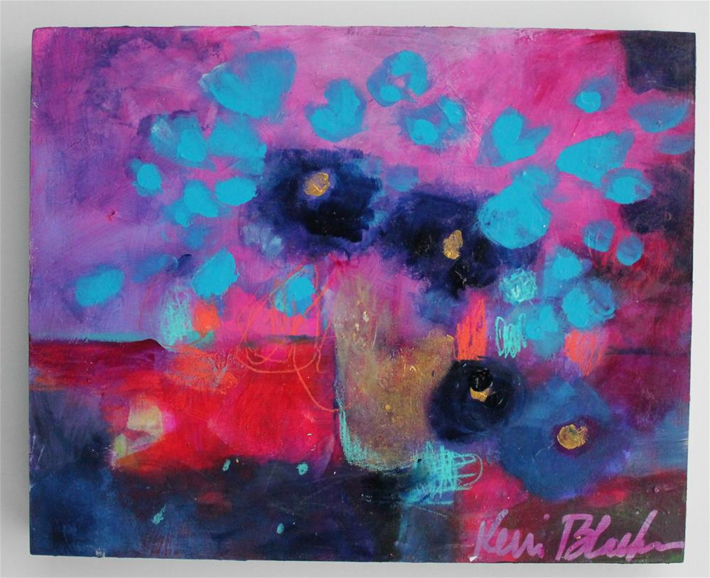 """Blue Fowers "" original fine art by Kerri Blackman"