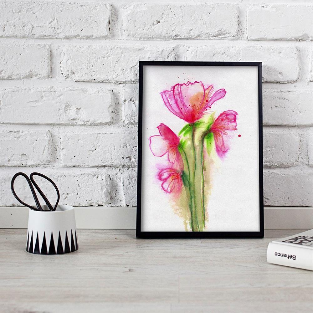 """Pink Quartet"" original fine art by Tonya Doughty"