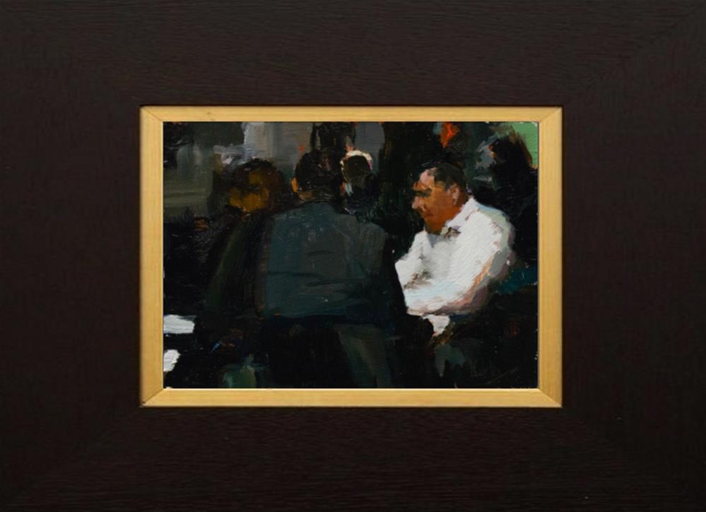 """The Meeting"" original fine art by Randall Cogburn"
