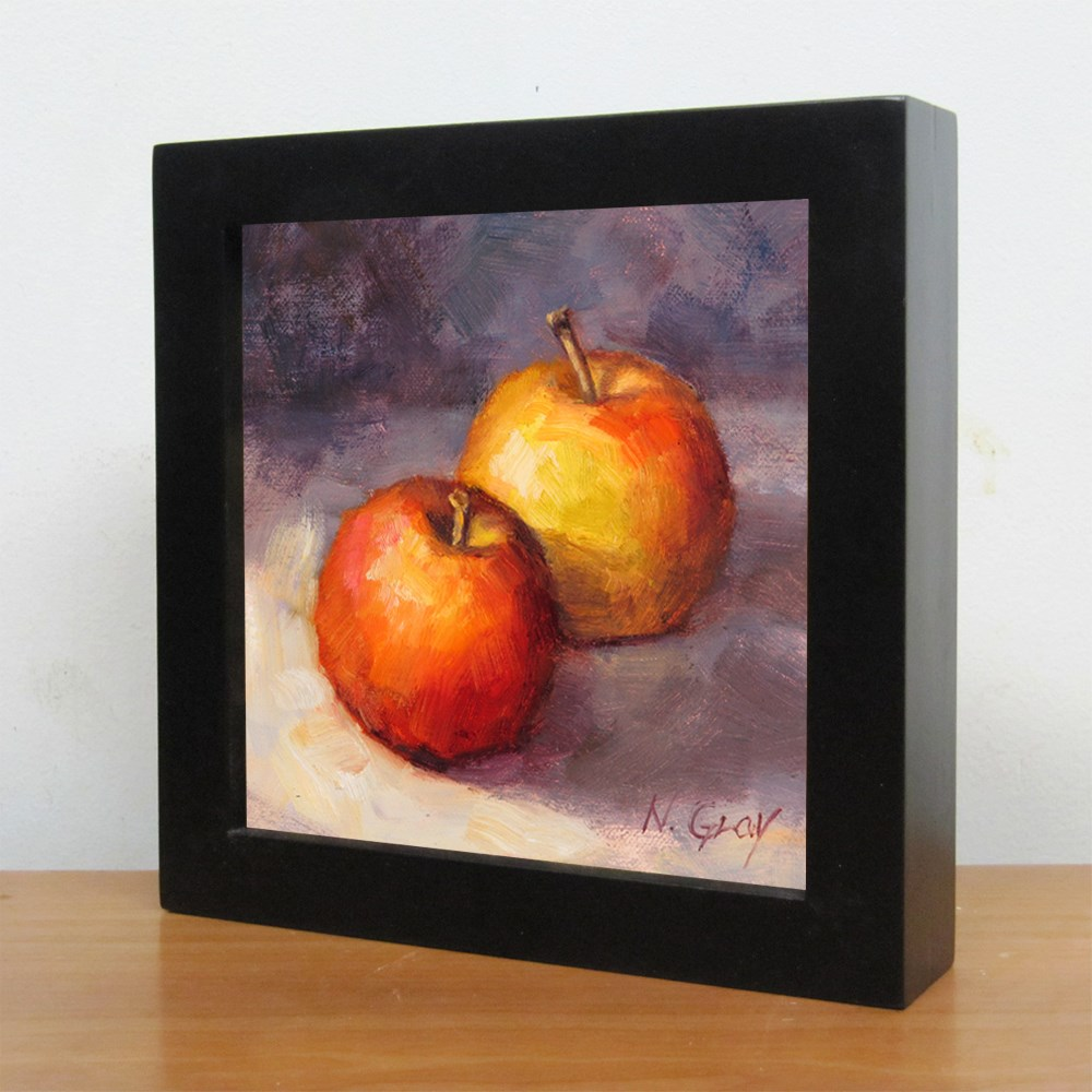 """Two Gala Apples"" original fine art by Naomi Gray"