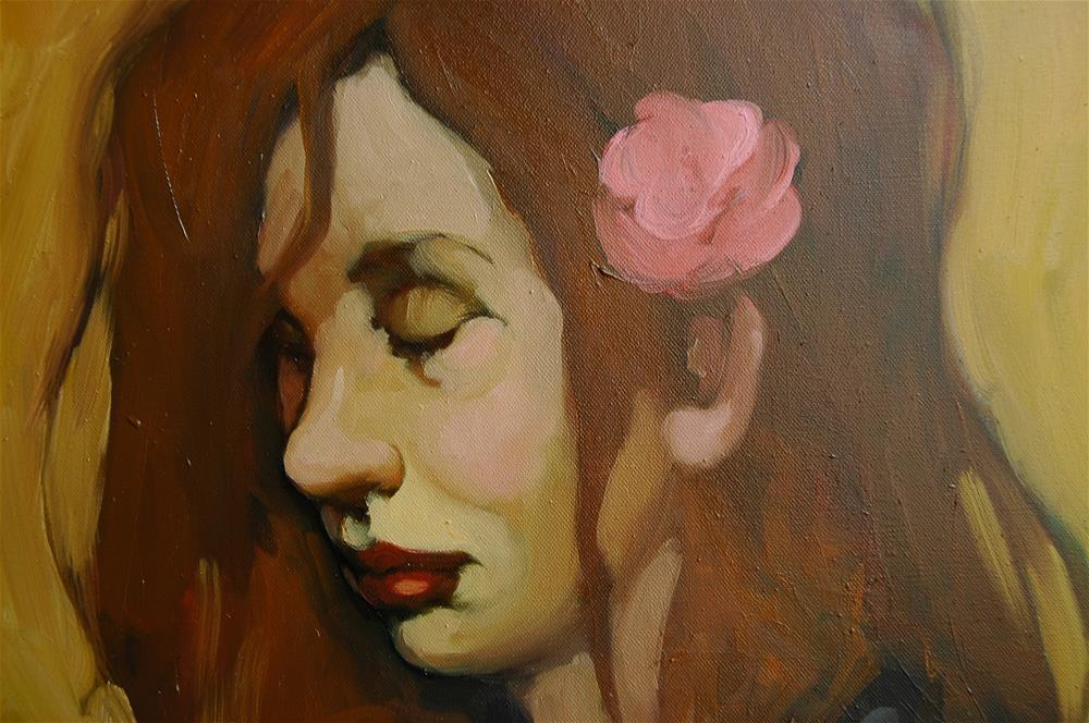 """A Flower In Her Hair"" original fine art by Kayleen Horsma"