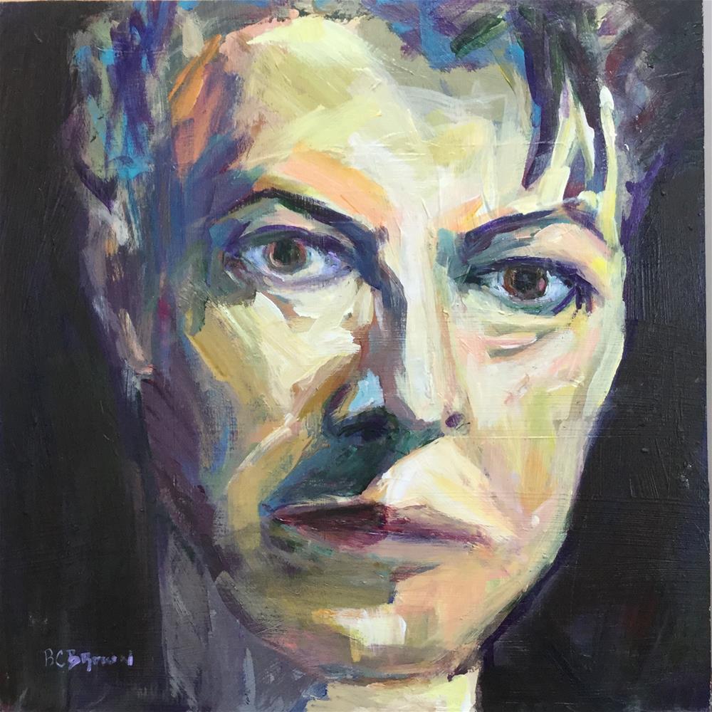 """David Bowie 8 x 8"" original fine art by Beth Carrington Brown"