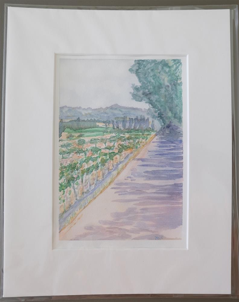 """Road to Maison Des Vignes, France"" original fine art by Laura Denning"