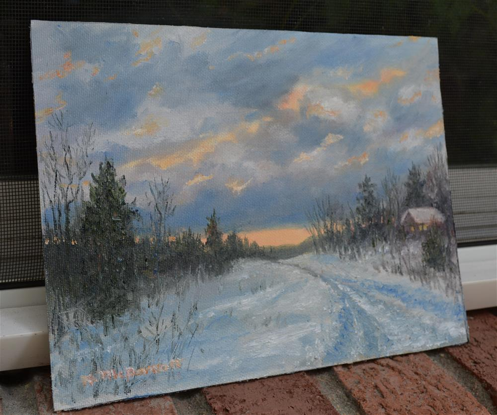 """More Snow Tonight"" original fine art by Kathleen McDermott"