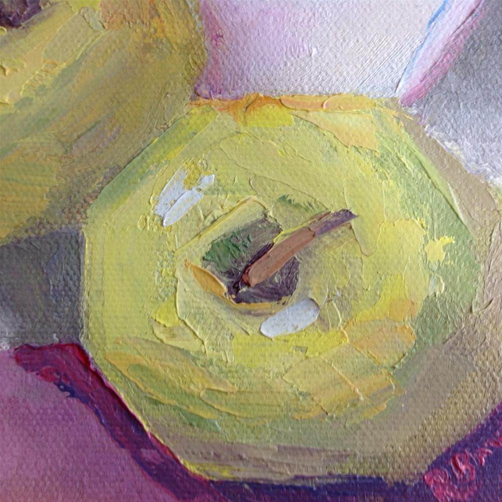 """Yellow Apples"" original fine art by Rose Brenner"