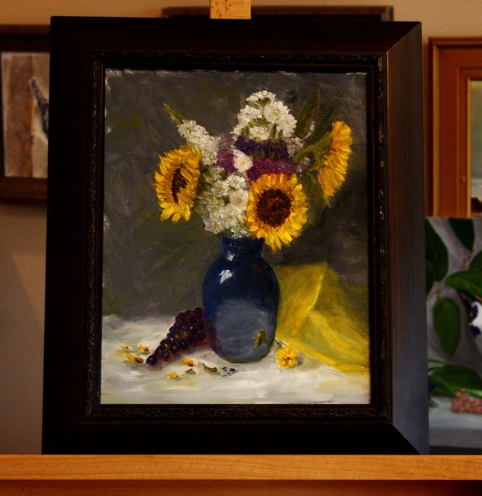 """Sunflowers Three"" original fine art by Mary Datum"