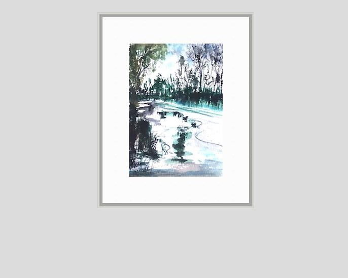 """""""5116 - Reflection on Winter"""" original fine art by Sea Dean"""