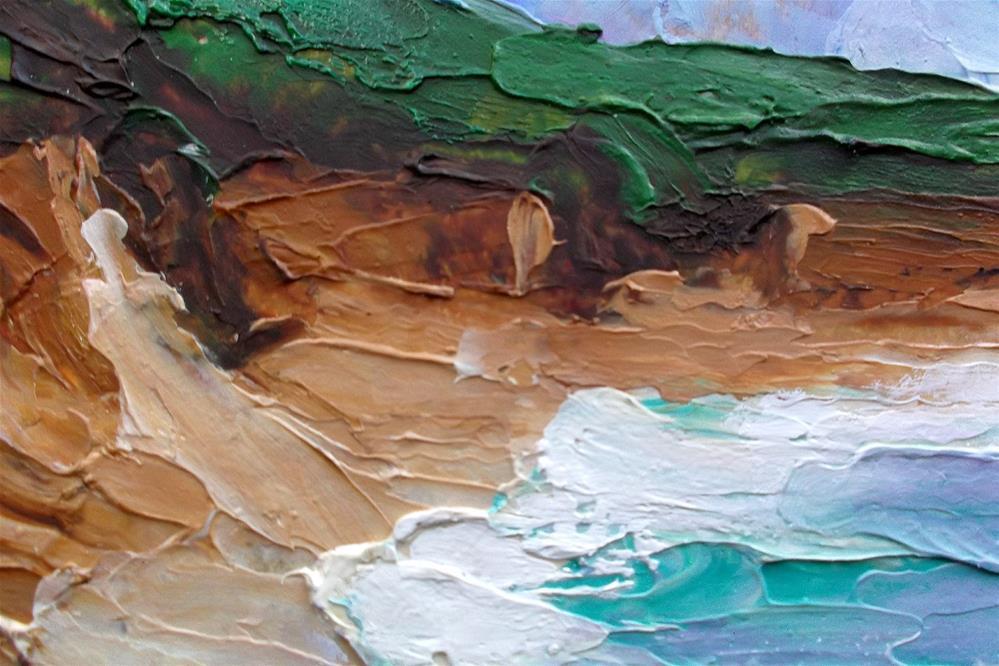 """""""Pacific Coast Gazos Cliffs"""" original fine art by lynne french"""