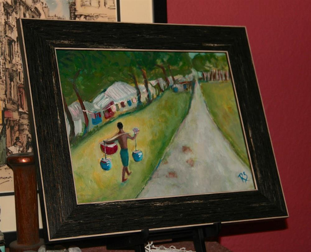 """Balancing Act"" original fine art by Roberta Schmidt"