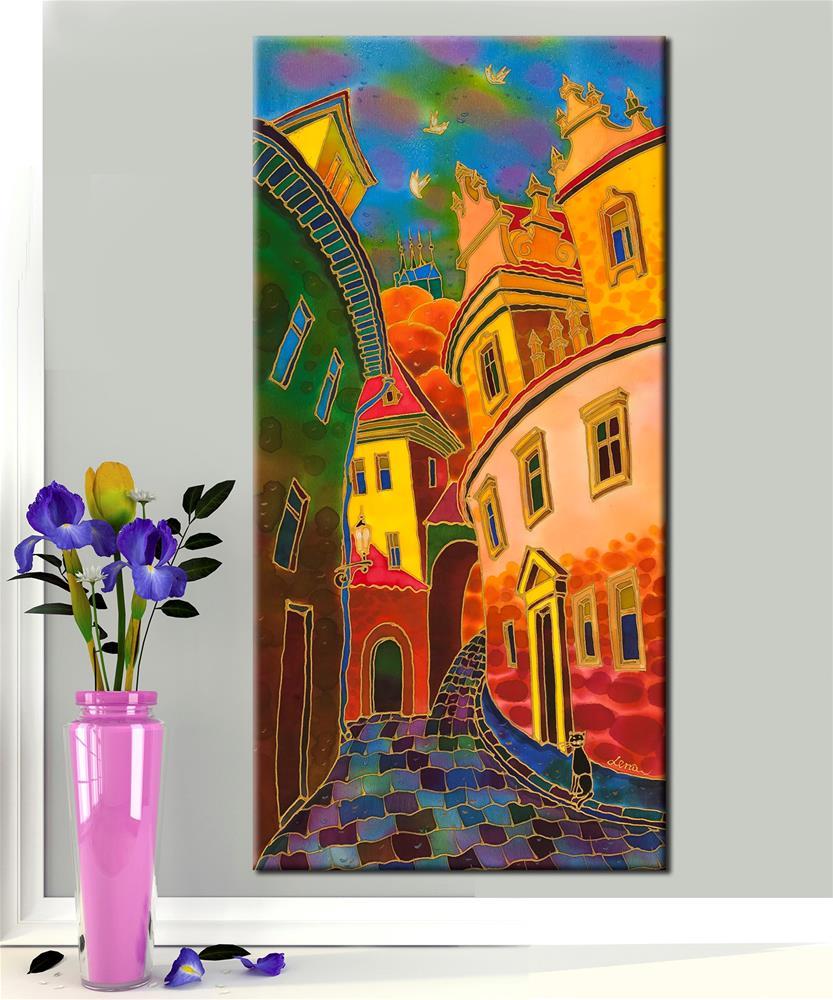 """Last Ray Of The Sun. Prague"" original fine art by Yelena Sidorova"