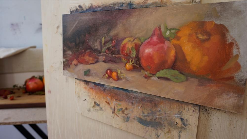 """Early autumn"" original fine art by Jeroen van der Velden"
