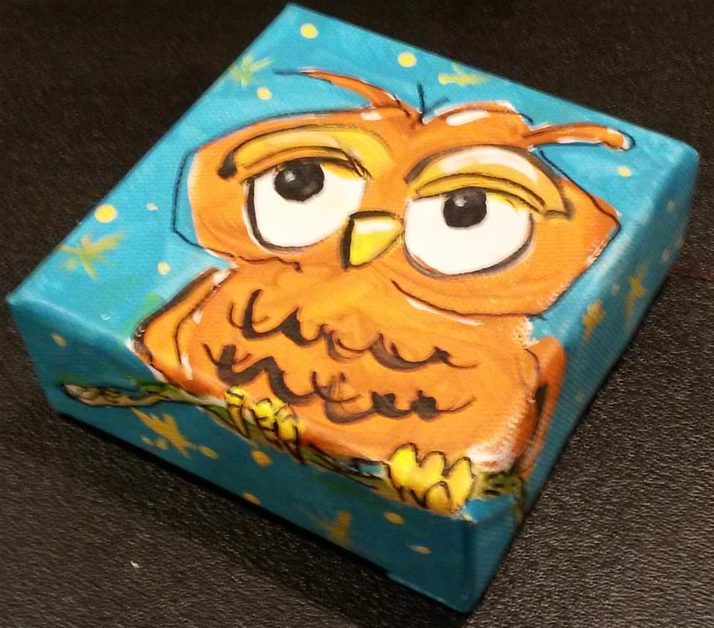 """Chunky Owl"" original fine art by Terri Einer"