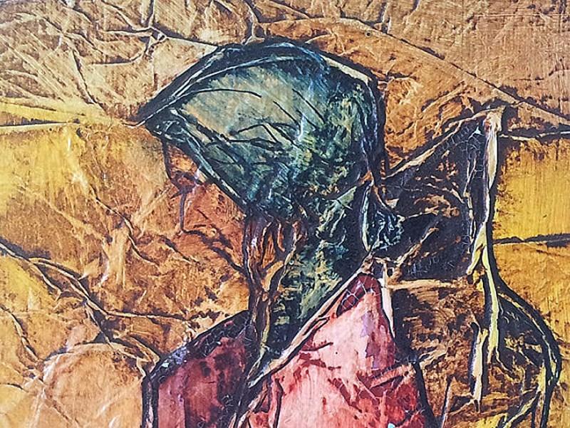 """Zen Inspired Gypsy Journey Watercolor on Tissue"" original fine art by lynne french"