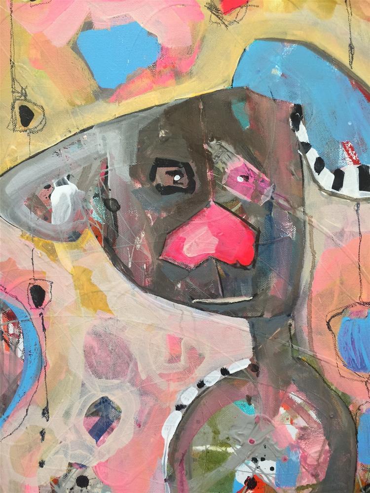 """471 Puppy Love"" original fine art by Jenny Doh"