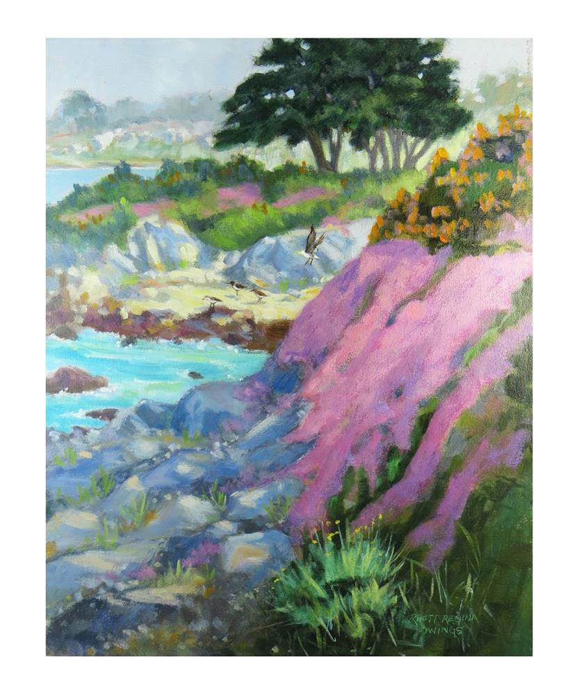 """Afternoon Light in Pacific Grove"" original fine art by Rhett Regina Owings"