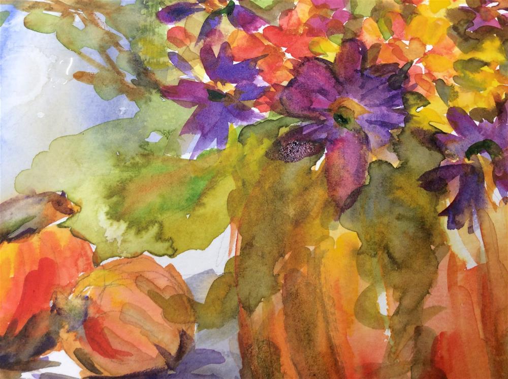 """""""Happy Fall Y'all"""" original fine art by Molly Rohrscheib Hathaway"""