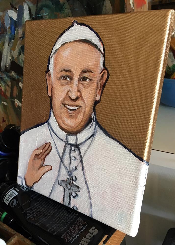 """Pope Francis"" original fine art by Valerie Vescovi"