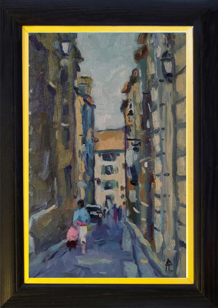 """Shopping in Arles"" original fine art by Andre Pallat"