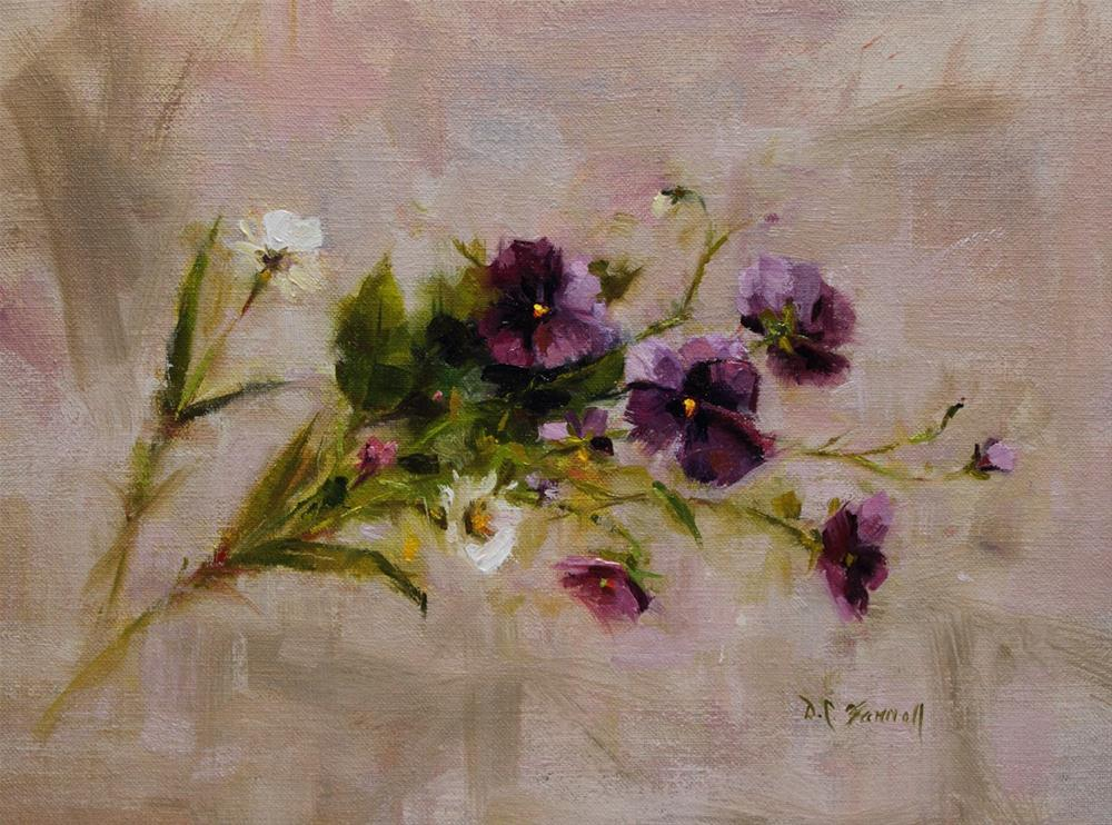 """Purple Wildflowers"" original fine art by Donna C Farrell"