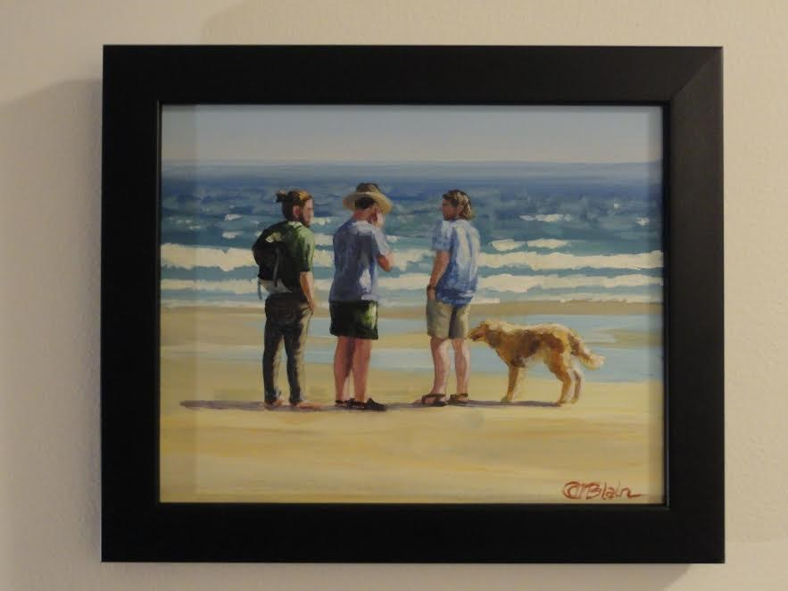 """Dogs on the Beach #4"" original fine art by Christine Blain"