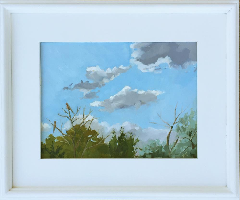 """""""Conversation about Clouds"""" original fine art by Jessie Dodington"""