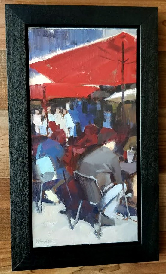 """Outdoor Seating"" original fine art by Carol Marine"