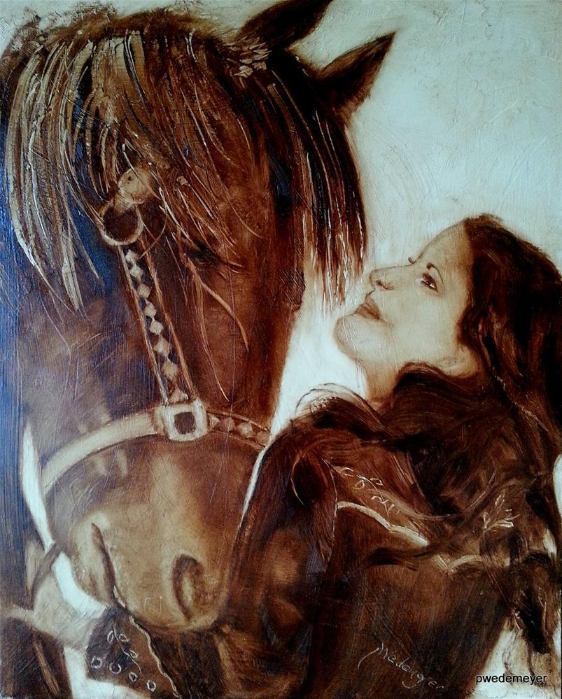 """""""Best Friends"""" original fine art by Pamela Wedemeyer"""