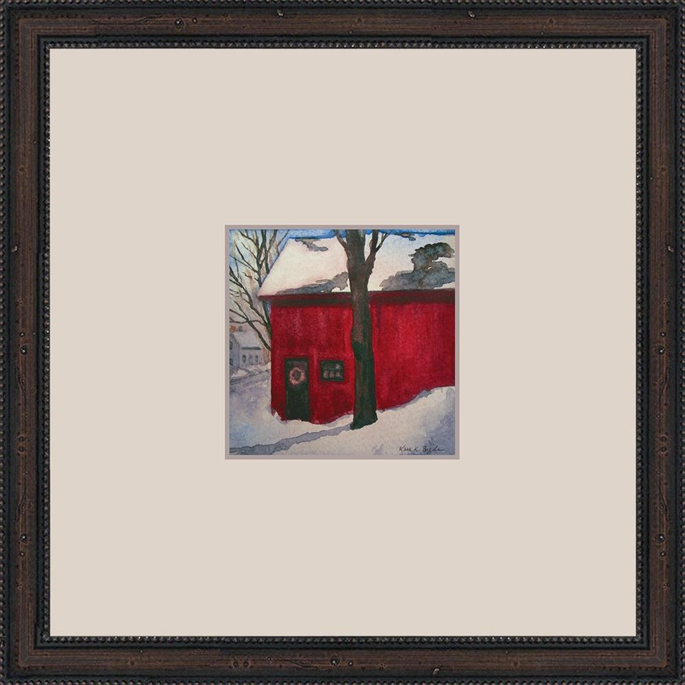 """The Red Barn"" original fine art by Kara K. Bigda"