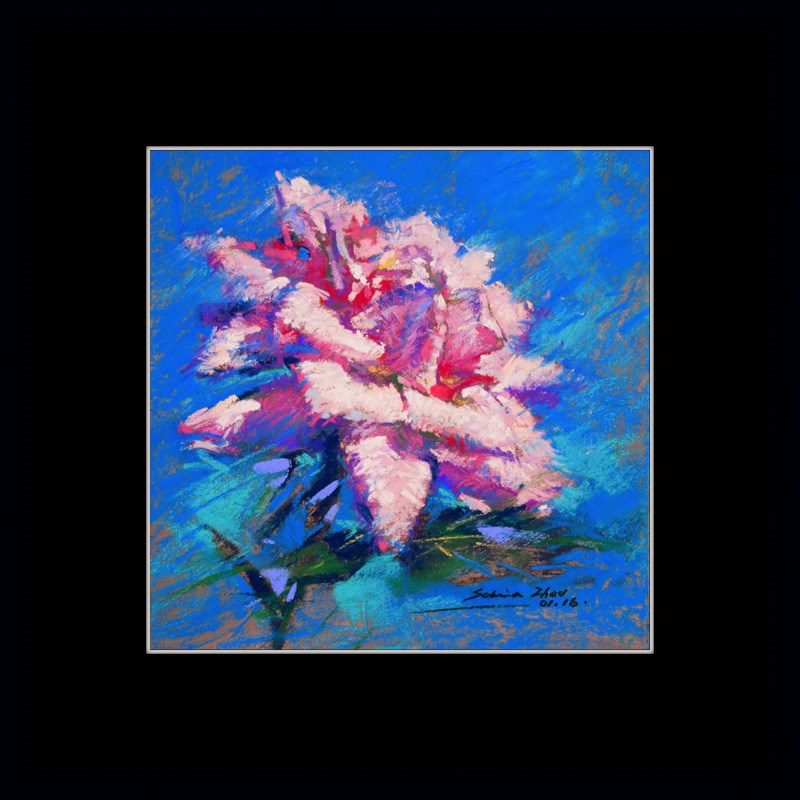 """Full Blossom"" original fine art by Sabrina Zhou"