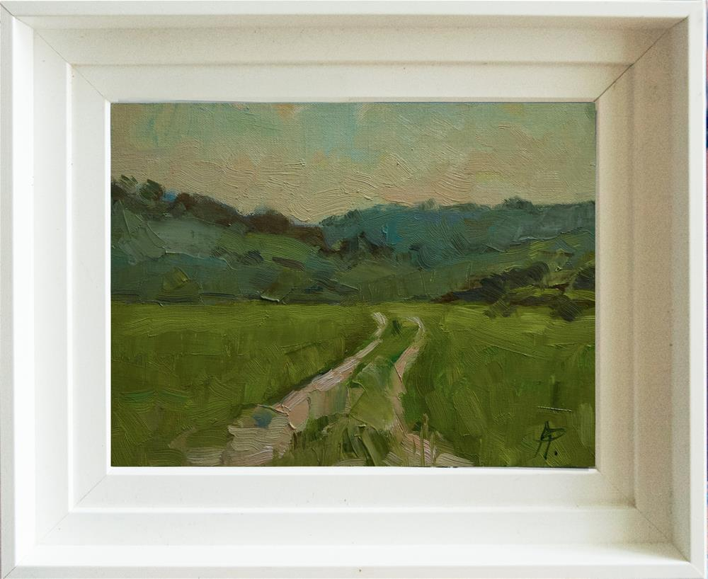 """The Downs from the Long Furlong"" original fine art by Andre Pallat"