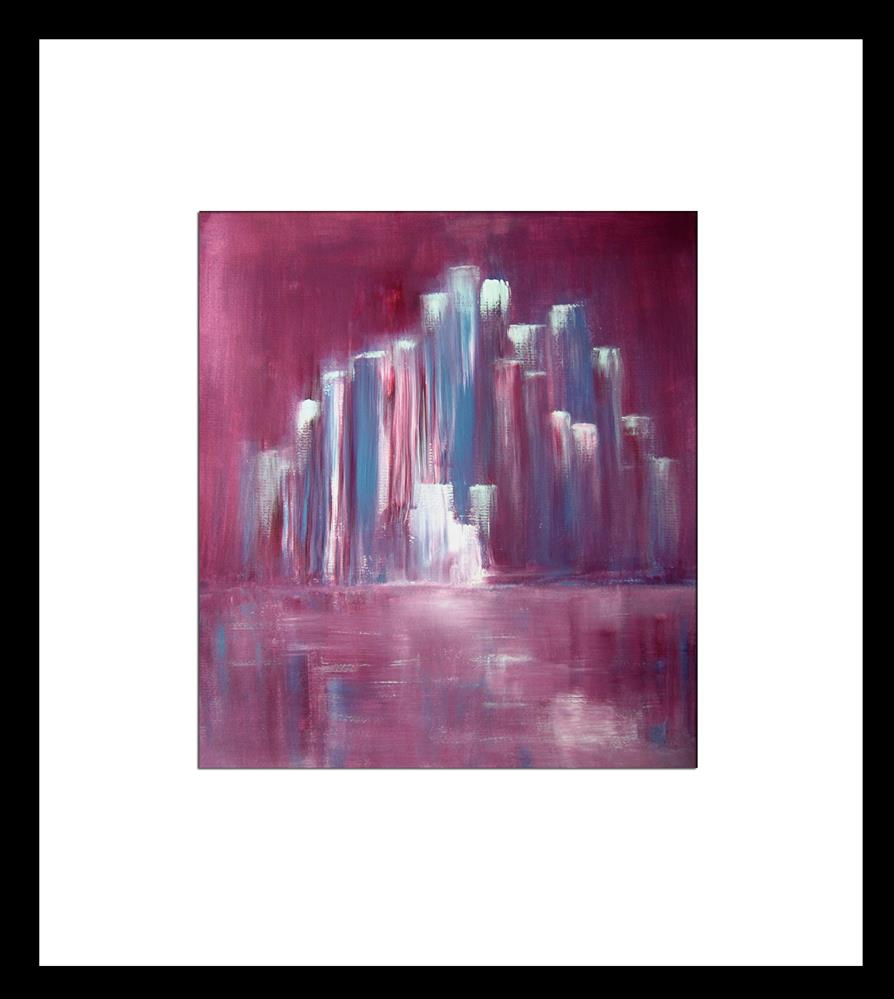"""Purple Cityscape"" original fine art by Alina Frent"