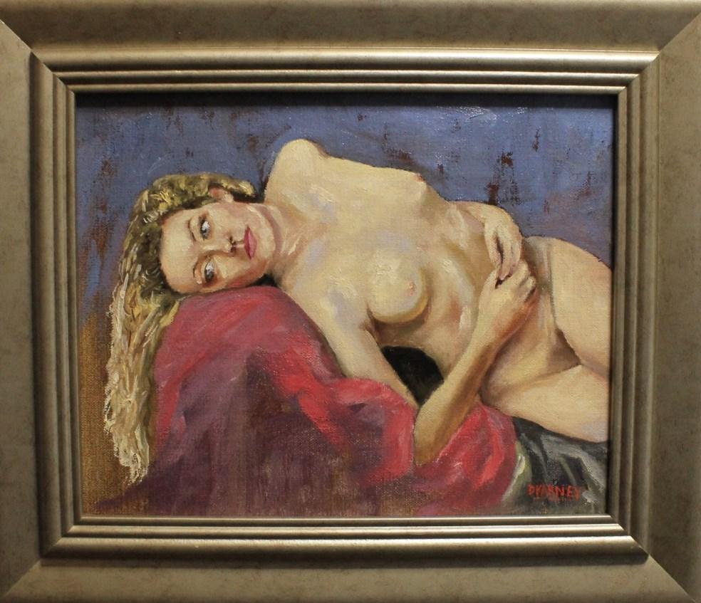 """Nude in Repose"" original fine art by Daniel Varney"