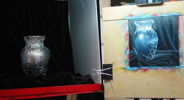 """Foiled Again"" original fine art by Patricia Murray"