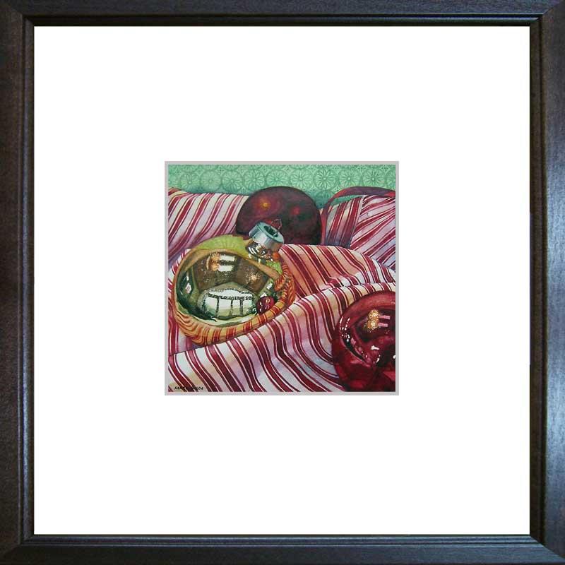 """Bulbs and Stripes"" original fine art by Kara K. Bigda"