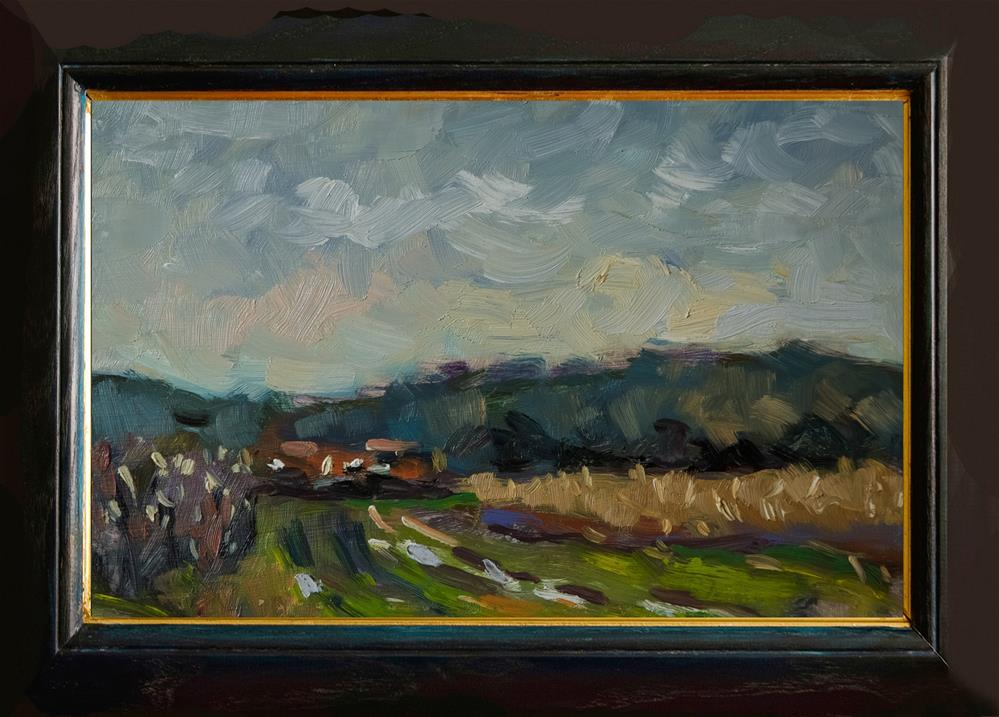 """Farmland near Warningcamp"" original fine art by Andre Pallat"