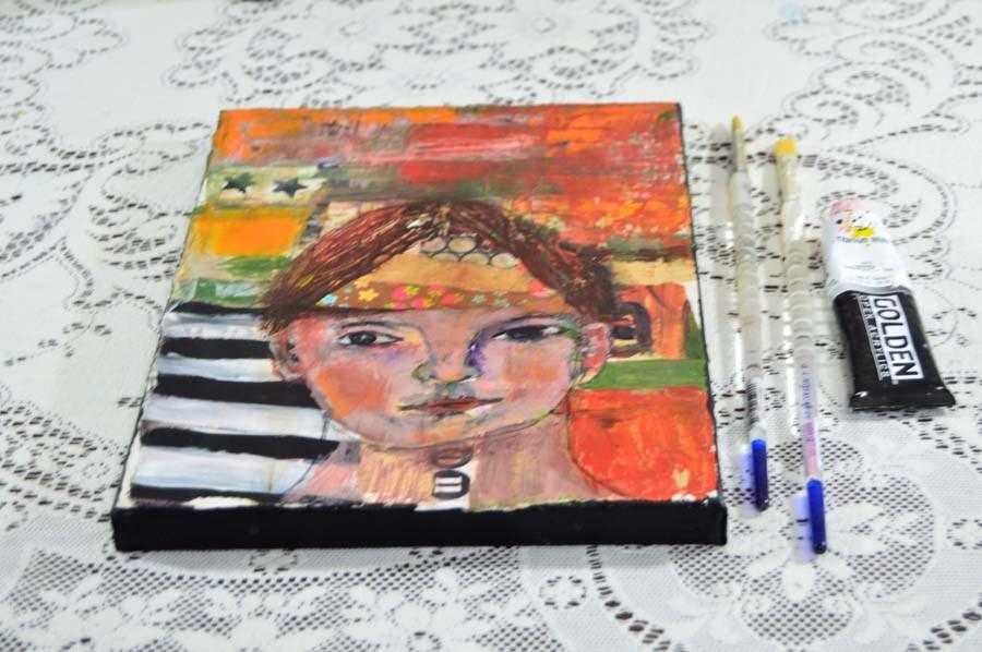 """""""Love Child"""" original fine art by Katie Jeanne Wood"""