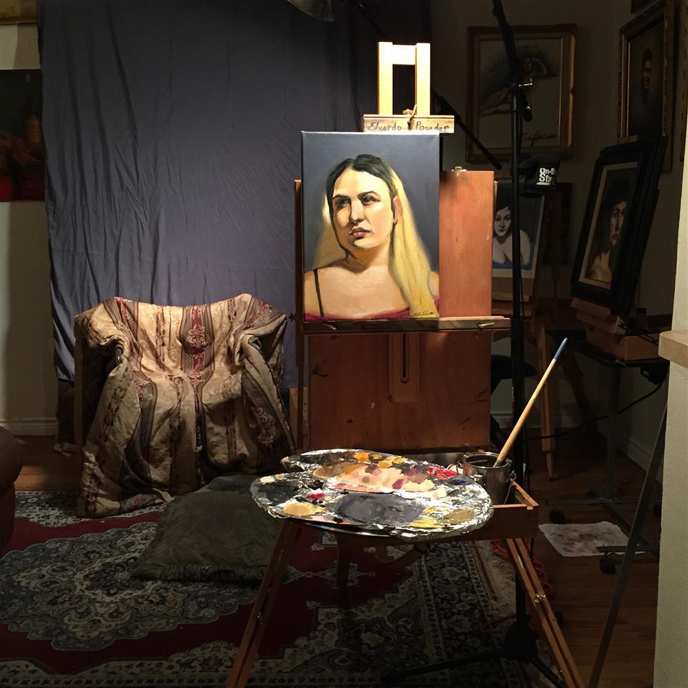"""""""Portrait of Coral"""" original fine art by Eduardo Posadas"""