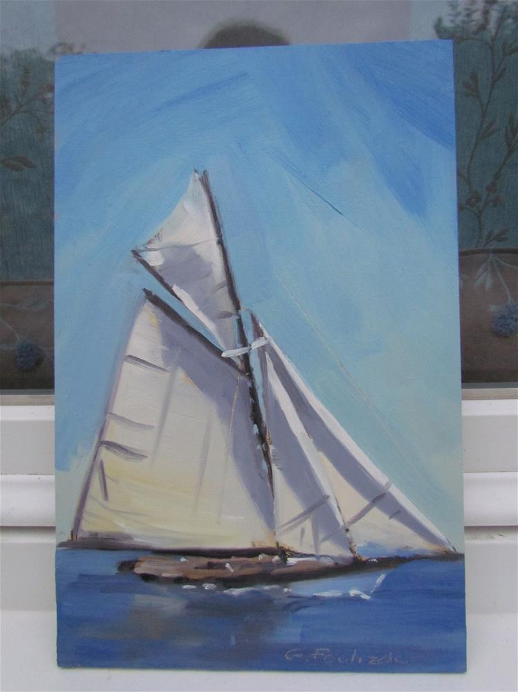 """""""voilier"""" original fine art by gilles Poulizac"""