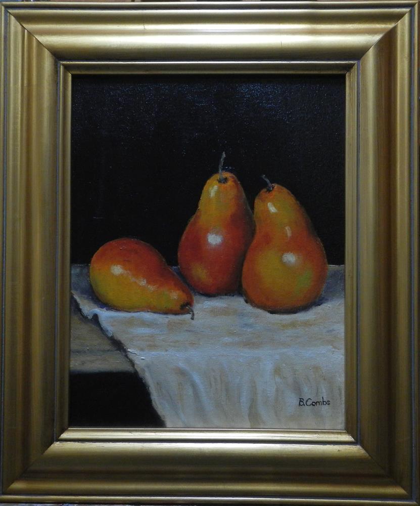 """Pear Trio"" original fine art by Bebe Combs"
