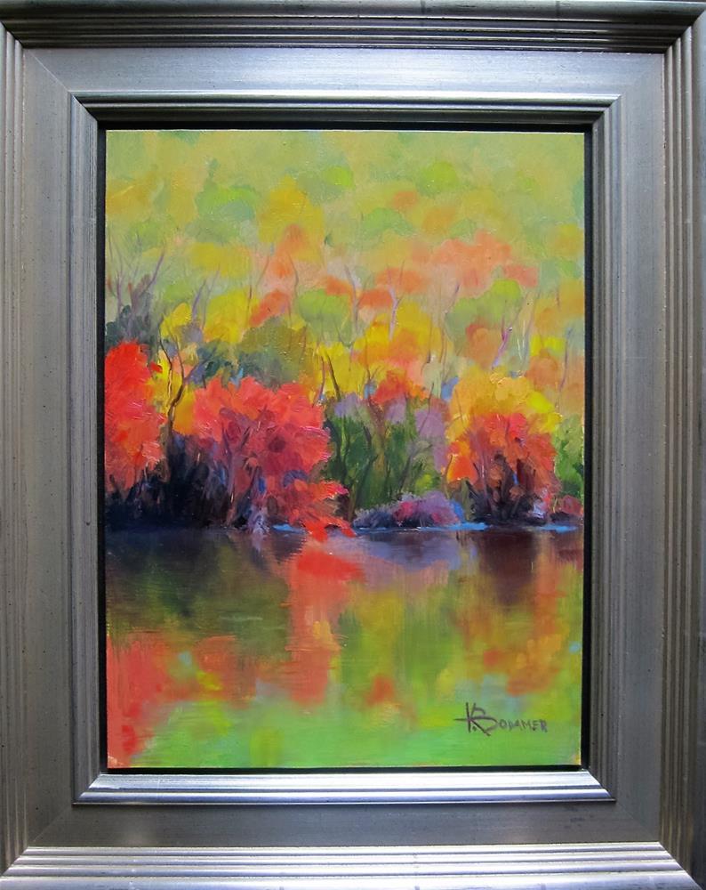 """""""Lake Bloom 2"""" original fine art by Kathy Bodamer"""