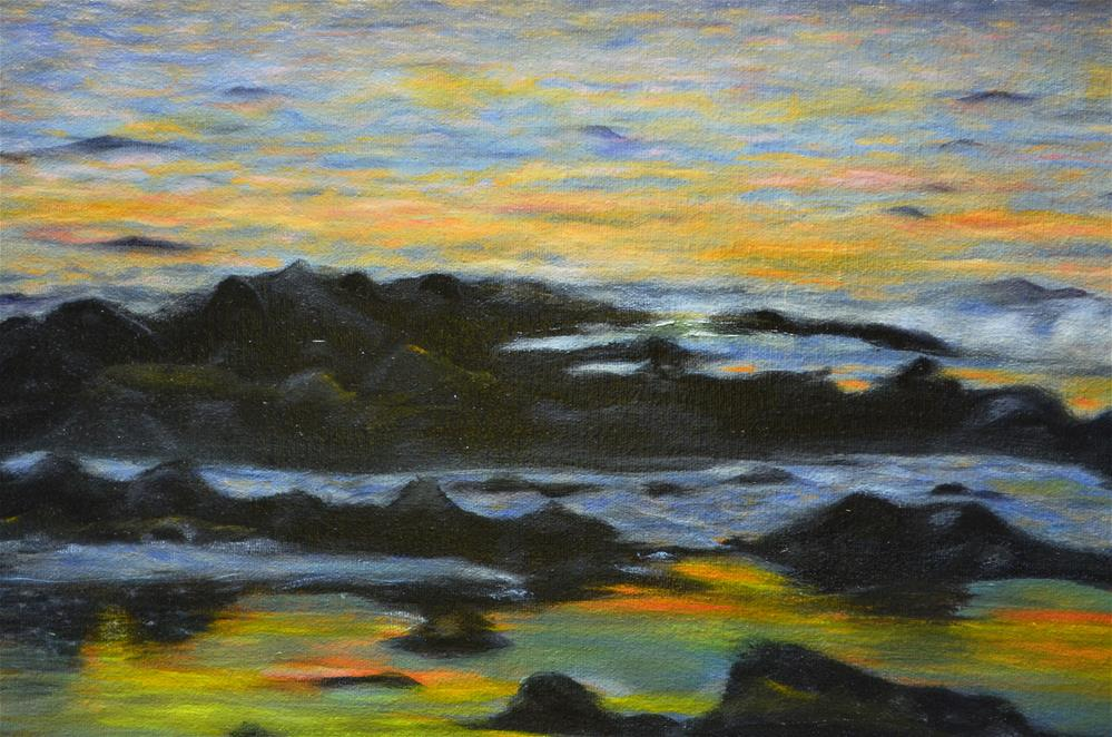 """Laguna Beach Sunset"" original fine art by Sun Sohovich"