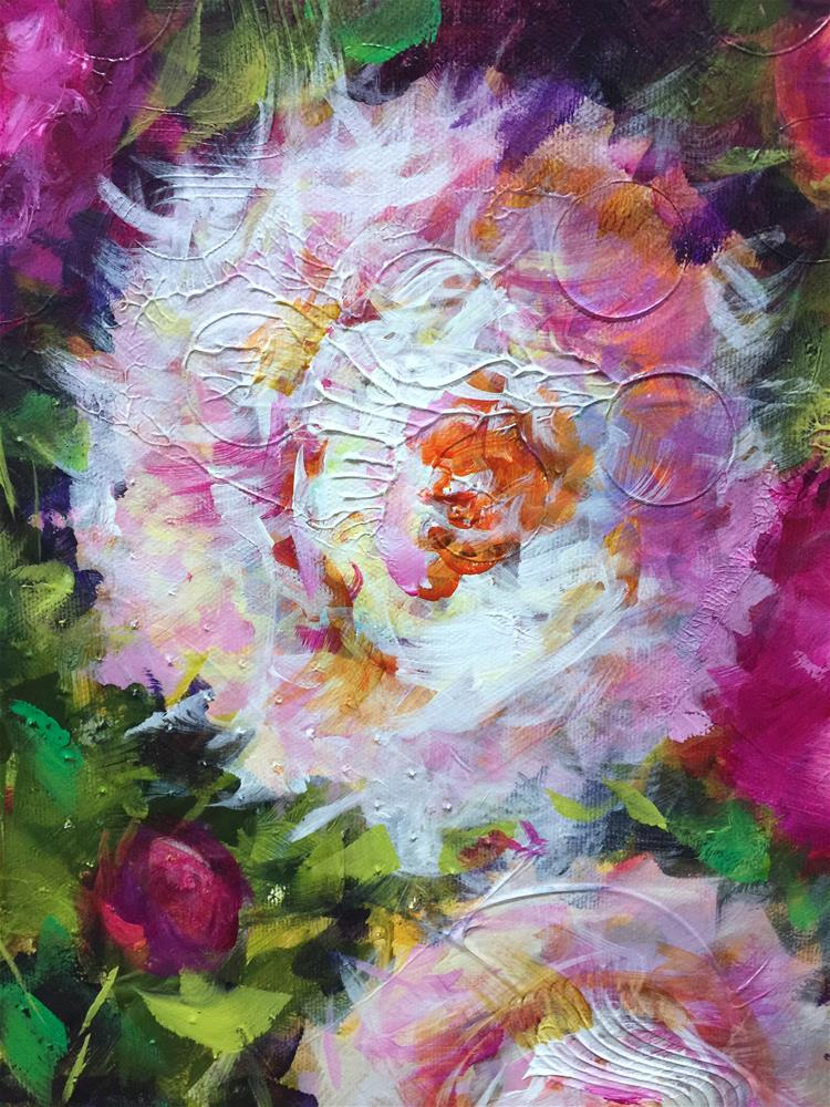 """Gravitational Pull Pink Peonies"" original fine art by Nancy Medina"